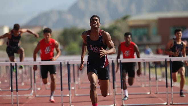 Palm Springs High School track and field athletes visited La Quinta High School for their meet on April 14, 2016.