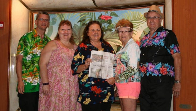 The colorful group aboard a Princess cruise to the Panama Canal.
