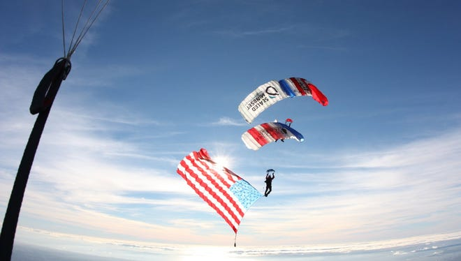 The Patriot Parachute Team will perform at this year's EAA AirVenture in Oshkosh.