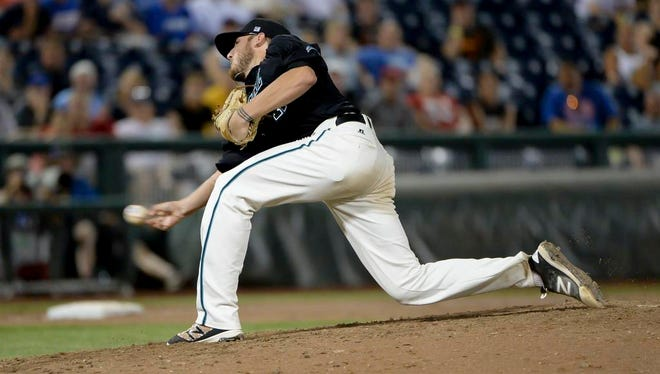 Coastal Carolina's Andrew Beckwith threw just 98 pitches in nine innings against Florida on Sunday.