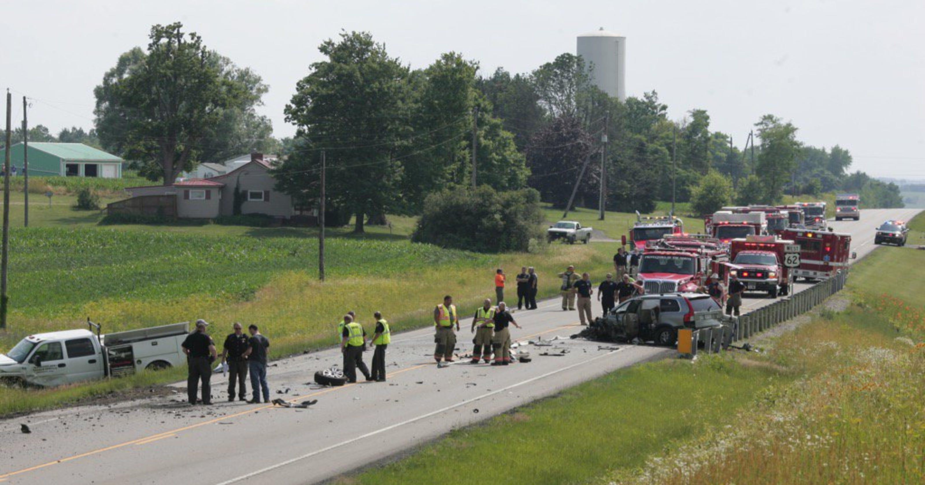 Three injured in separate Monday crashes