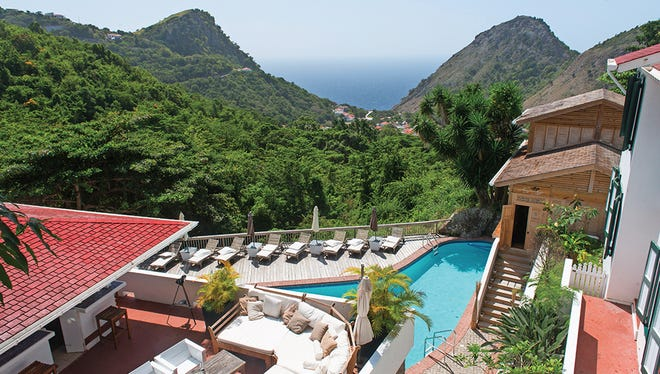 Saba's rugged coastal terrain opens up remarkable hiking opportunies, with luscious resorts including the Queen's Garden waiting at the end.