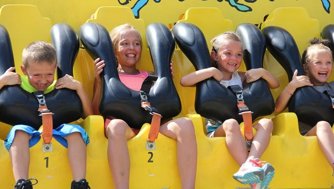 AAA's Children's Outing brought 1,5000 needy kids from the Tristate area to Kings Island.