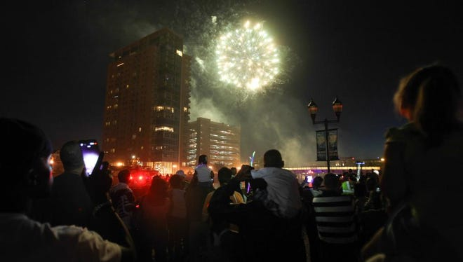 Fireworks light up the sky during the Fourth of July celebration at Tubman-Garrett park in Wilmington in 2015.