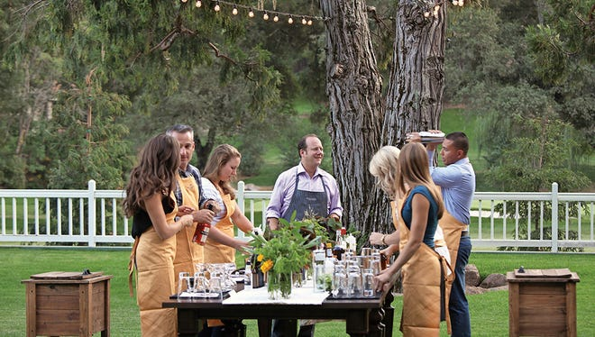 Meadowood's Scott Beattie teaches a cocktail-making class at the Napa Valley restaurant.