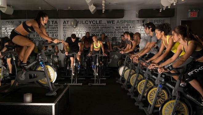 SoulCycle offers a pay-as-you-go system. Those riding regularly may purchase a larger series that offers a price discount.