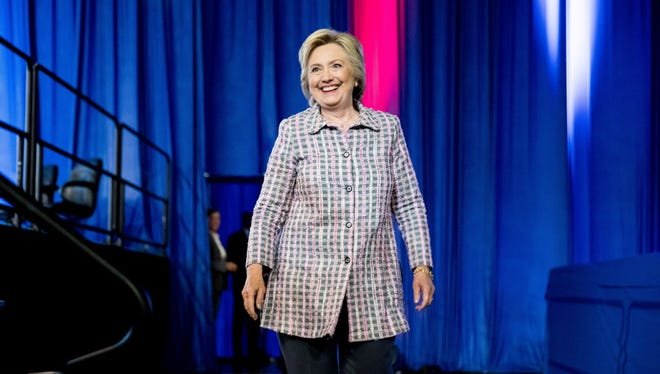 Hillary Clinton is pictured in Charlotte, N.C., on July 25, 2016.