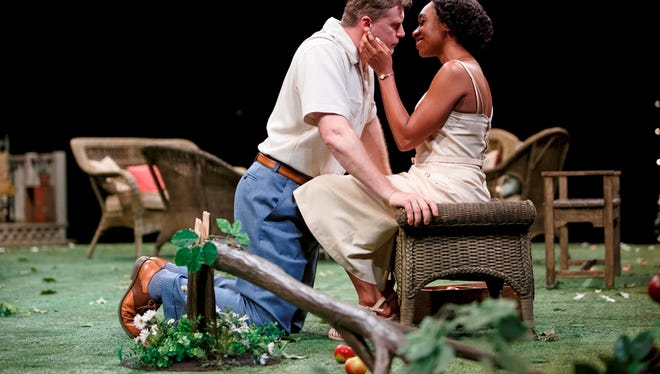 "Tim Campbell and Sarah Afful perform in Stratford Festival's ""All My Sons."""