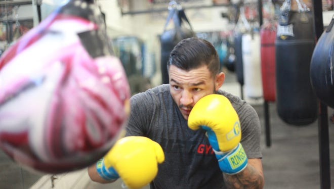 Cub Swanson during a training session at Indio Boys and Girls Club.
