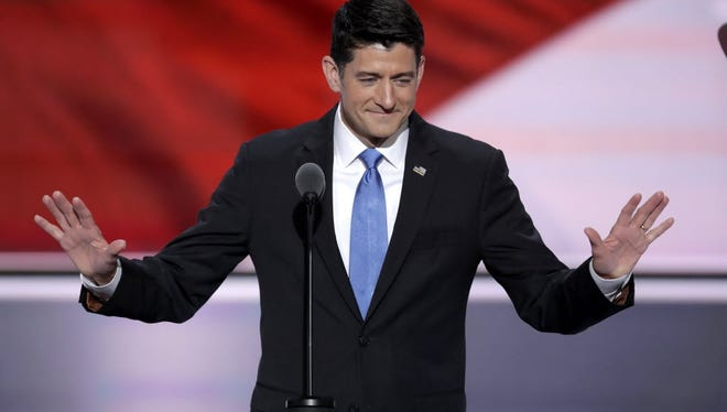 House Speaker Paul Ryan speaks at the 2016 Republican National Convention.