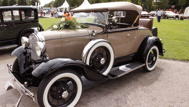 This 1930 Ford Model A Roadster is among the vehicles that can be seen Sunday at Heritage Village in Sturgeon Bay.