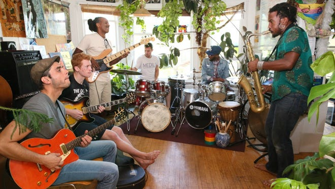 Local Afrobeat band Black and Mad rehearses at sax player Jay Anderson's home. Several Milwaukee musicians have reacted to the unrest in Sherman Park with new songs and projects.