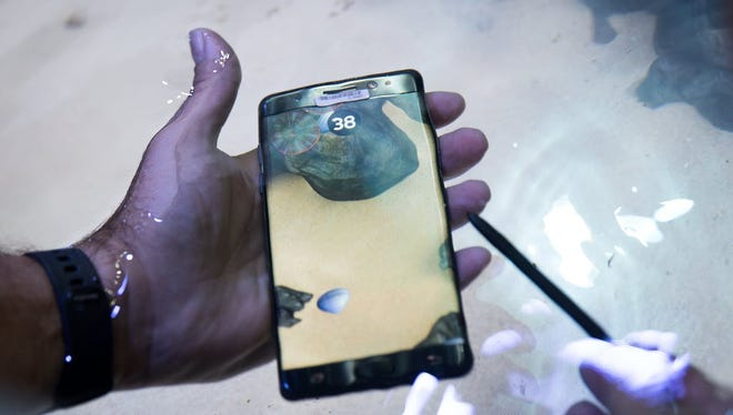 Samsung's new Galaxy Note 7 boasted underwater performance, but is now subject to a recall and flight bans due to exploding batteries.