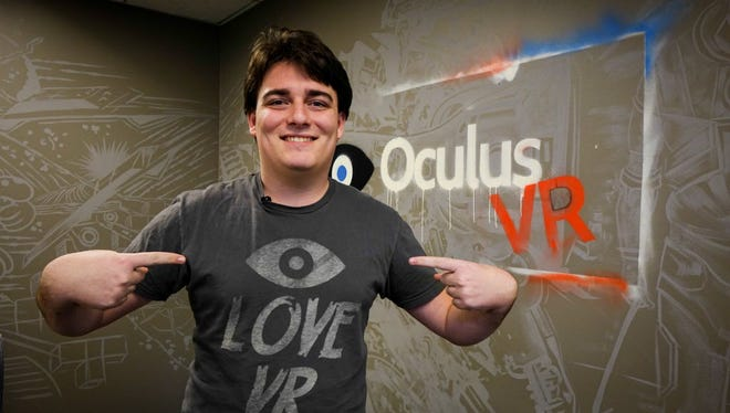 Palmer Luckey, founder and creator of Oculus Rift, shown here in 2014 shortly before he sold the company to Facebook for $2 billion.
