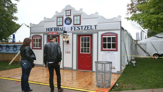 A 500-seat tent at MKE Oktoberfest offers visitors an authentic taste of the German celebration.