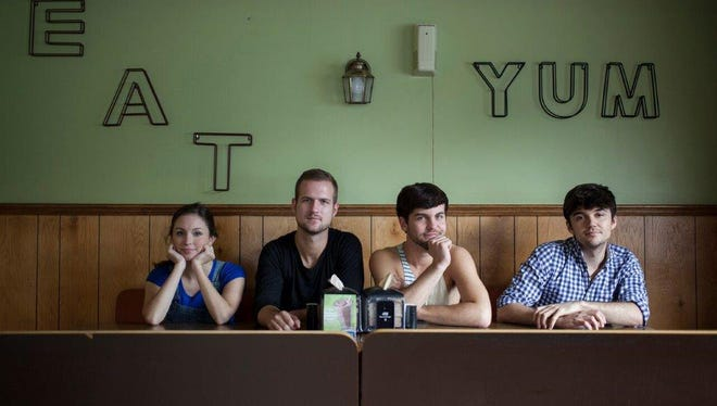"""The cast of """"Feral"""" includes (from left) Leah Beth Bolton, Chase Brother, Seth Daniel and Jordan Nichols. (Photo by Breezy Lucia)"""