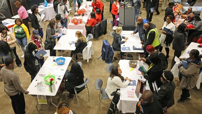 Four Milwaukee aldermen sponsored a job fair Thursday at ManpowerGroup. University of Wisconsin researchers warn that the state economy is creating too many lower-skill jobs.