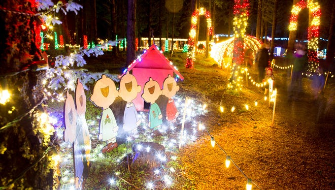 Lights galore will be on display during the Christmas in the Garden event at the Oregon Garden