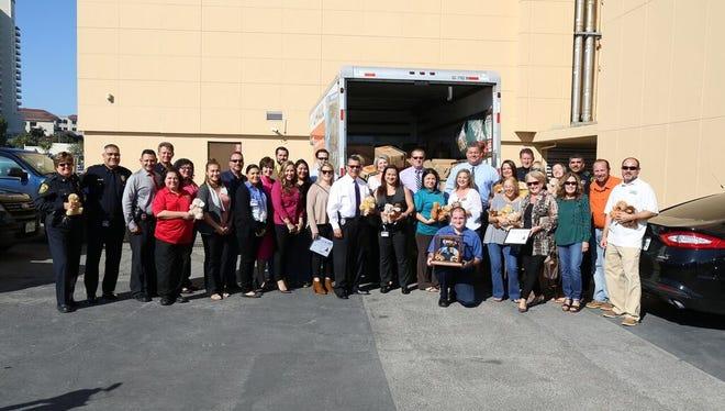 The Corpus Christi Association of Realtors donated more than 5,000 bears to the Corpus Christi Police Department on Nov. 15, 2016.