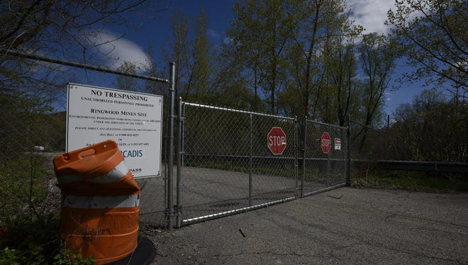 Entrance to Ford Motor Co.'s Superfund site in Ringwood.