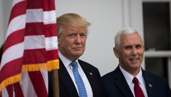 President-elect Donald Trump and Vice President-elect Mike Pence.