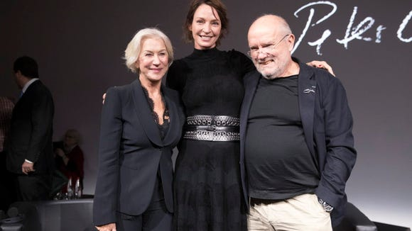 Uma Thurman, Helen Mirren and Peter Lindbergh at the