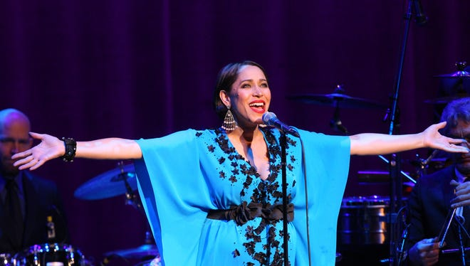 Pink Martini with special guest Dame Edna performs at the McCallum Theater on November 30, 2016 during the theater's 2016 gala in which JoAnn McGrath was honored.