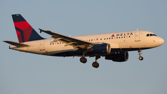 A file photo of a Delta Air Lines Airbus A319 aircraft.