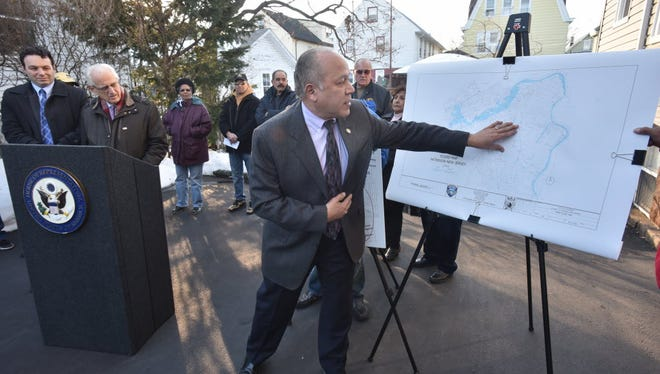 """Paterson Mayor Jose """"Joey"""" Torres holds a news conference in January in Paterson concerning city's flood zones."""