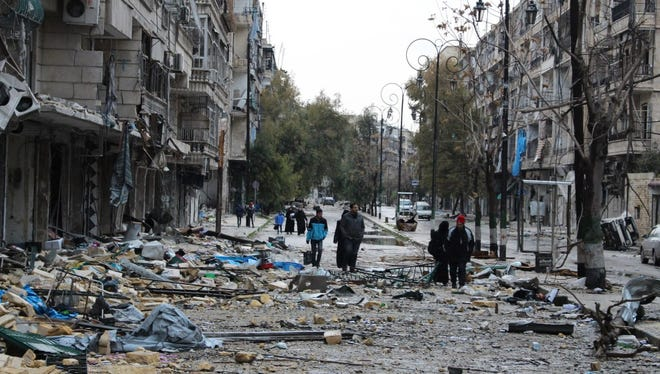 Eastern Aleppo, Dec. 14, 2016.