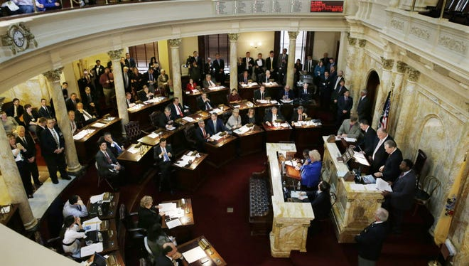 The New Jersey Legislature at work.