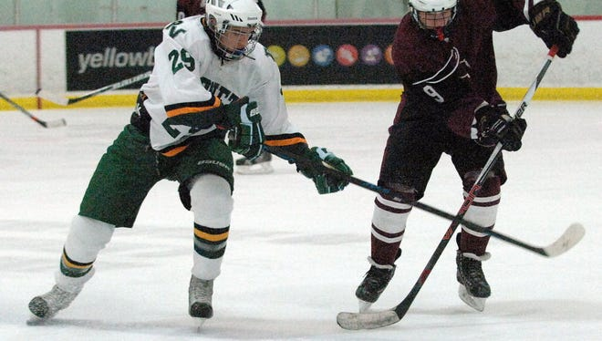 Chris Poplawski, right, made 29 saves in his first start in goal as Clifton beat Paramus, 5-2.