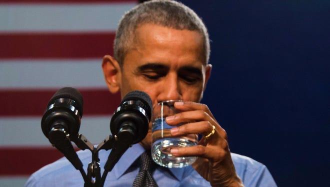 President Obama at Flint Northwestern High School in Flint, Mich., on May 4, 2016.
