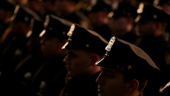 New graduates of the NYPD Police Academy on  Dec. 28, 2016.