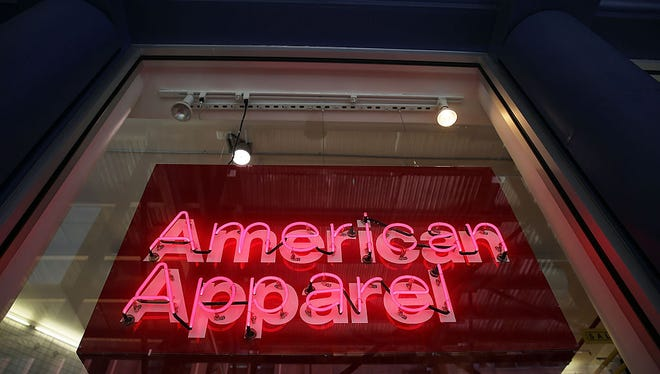 An American Apparel store is viewed on August 19, 2015 in New York City.