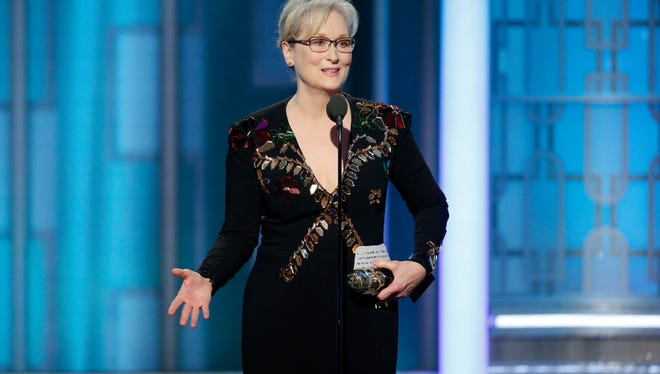 "In a lengthy speech at the Golden Globes in January, Meryl Streep said, ""When the powerful use their position to bully others, we all lose."""