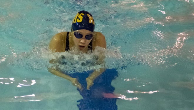 Maddi Hoitsma is a standout in the butterfly races for Ramsey.
