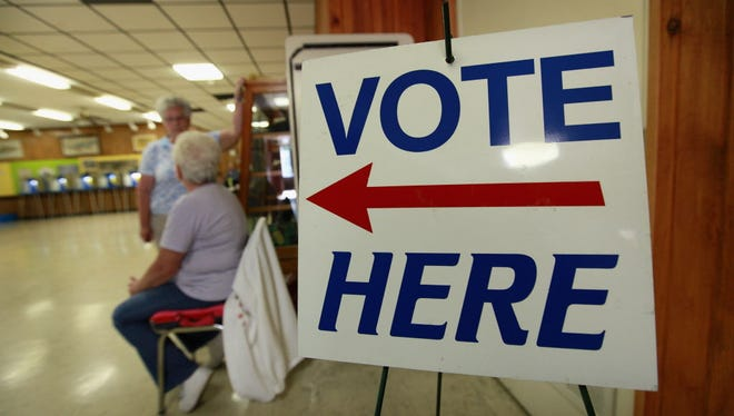 Voting sign.