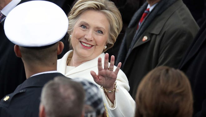 WASHINGTON, DC - JANUARY 20:  Former Democratic presidential nominee Hillary Clinton arrives on the West Front of the U.S. Capitol on January 20, 2017 in Washington, DC. In today's inauguration ceremony Donald J. Trump becomes the 45th president of the United States.  (Photo by Chip Somodevilla/Getty Images)