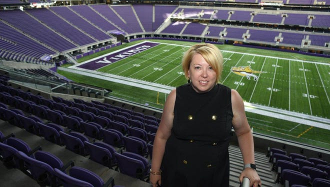Andrea Mokros, a native of Shorewood, is vice president of communications and events for the Minnesota Super Bowl Host Committee, which will plan and execute next year's Super Bowl at U.S. Bank Stadium in Minneapolis.
