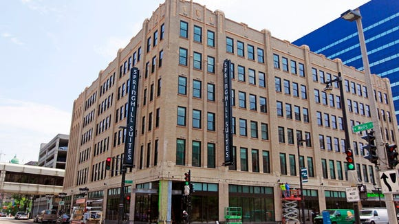 SpringHill Suites is at W. Wells and N. 4th streets, in the former Commerce Building. The hotel opened in summer 2016.