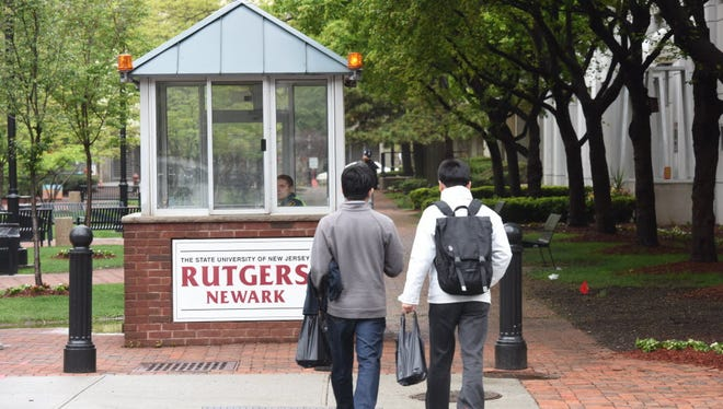 A Rutgers guard house on the campus of Rutgers-Newark.