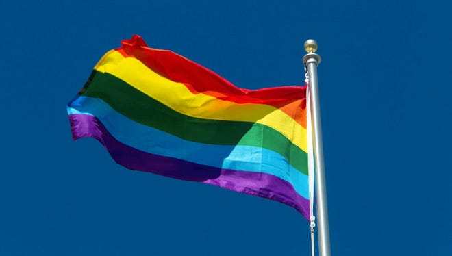 A flag supporting LGBTQ equality.