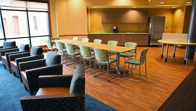 The adult day room at Rogers Memorial Hospital Brown Deer, one of three hospitals that are part of Rogers Behavioral Health  System.