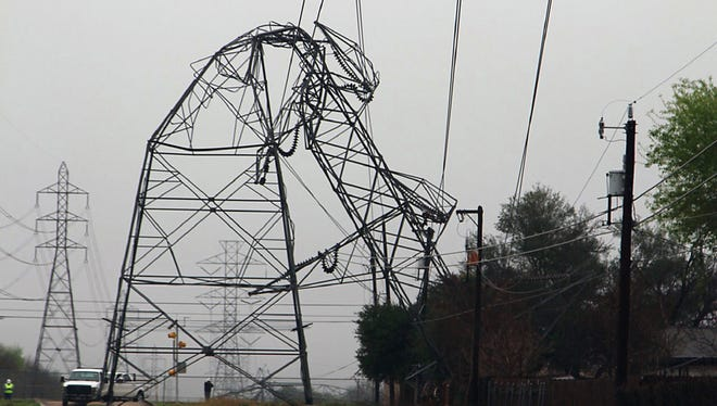 At least two tornadoes bent a CPS energy transmission tower on Feb. 20 in San Antonio. The Storm Prediction Center, based in Oklahoma, advises families to prepare a tornado plan in advance.