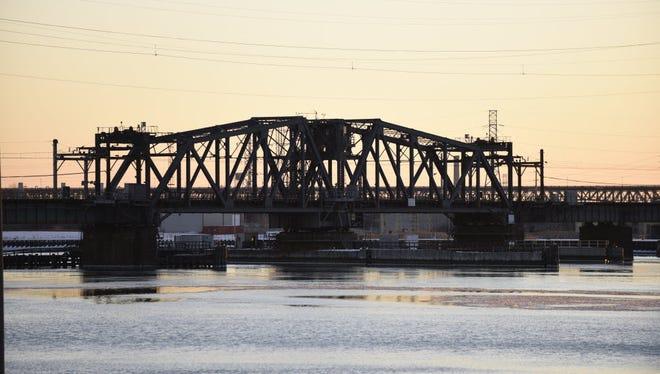 The Portal Bridge over the Hackensack River.