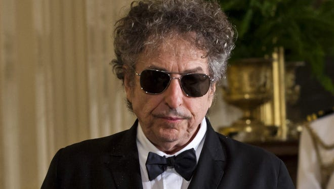 Bob Dylan in the East Room of the White House in Washington, D.C., in 2012.