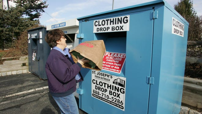 East Rutherford introduced an ordinance that would limit the number of clothing donation bins in the borough to 20 and only three per property.