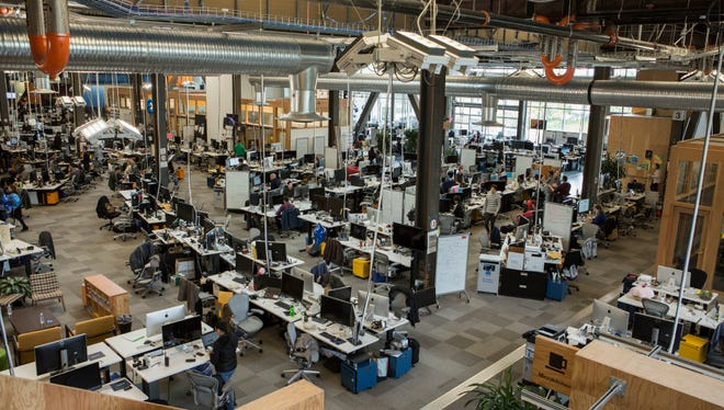 Facebook headquarters in Menlo Park, California on Tuesday, January, 31, 2017. While many of new tech jobs occur in hubs like California's Silicon Valley, states like North Carolina have also seen rapid tech job growth.