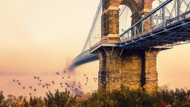 Last year's winner of the Roebling Bridge Photo Contest.